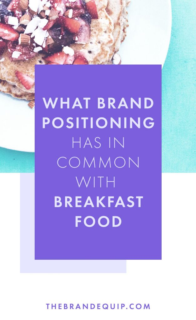 Have you ever really thought about why it's socially acceptable to eat what is essentially a dessert for breakfast? Entrepreneurs take a note, it's because of how those foods were positioned. When it comes to developing your own brand identity it's key to consider your own brand positioning first so that you can become for your industry what waffles are for breakfast.